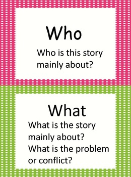 5 W's Reading Strategy