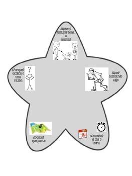 5 W's Star in Spanish
