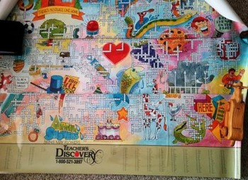 5' X 7' Spanish Crossword Puzzle Mural