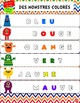 Kit de 5 ATELIERS//Les monstres multicolores