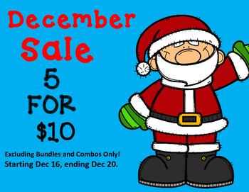 5 for $10 December Sale