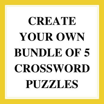 """""""5 for $5"""" Build a Crossword Puzzle Bundle"""