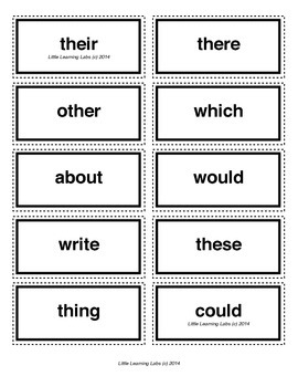 5-letter vocabulary spelling sight words cards for prek pr
