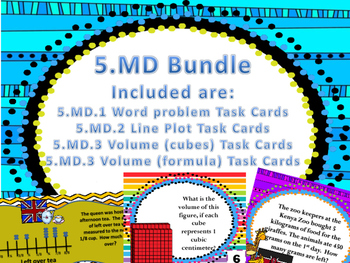 5.md.1,5.md.2 and 5.md.3 task cards (Bundle)