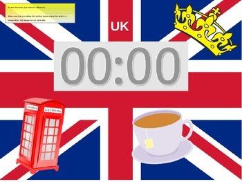 5 minute timer (UK themed)
