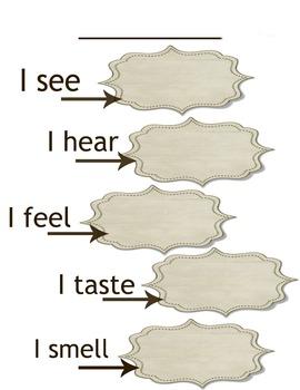 5 senses writing