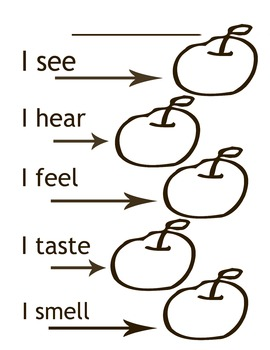 Apple Description 5 senses writing