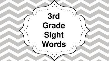 5 weeks of 3rd Grade Sight Words!