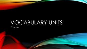 5 word Mini Vocabulary Units (Entire Quarter Worth!) Presentation