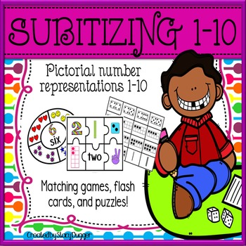 Subitizing Activity Pack (Puzzles, Matching Games, Flash Cards)