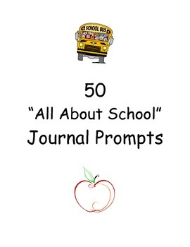All About School Journal Prompts - 50