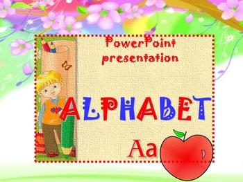 Alphabet - PowerPoint presentation - 26 рictures - Clipart