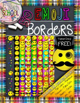 50 Emoji Borders {From Sketch to School}