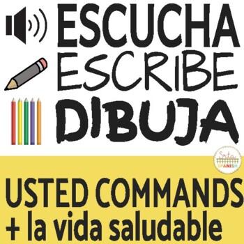 Escucha, Escribe, Dibuja- USTED commands