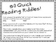 50 Five Minute Reading Riddles That Will Get Your Kids Thinking!