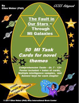 50 MI Task Cards - The Fault in Our Stars Novel Gr. 7 - 12+