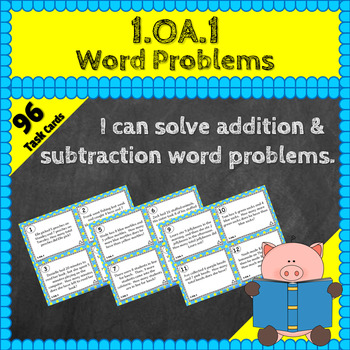 1.OA.1 Task Cards: Addition and Subtraction Word Problems
