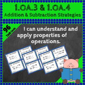 1.OA.3 & 1.OA.4 Task Cards, 1OA3 1OA4 Centers: Addition &
