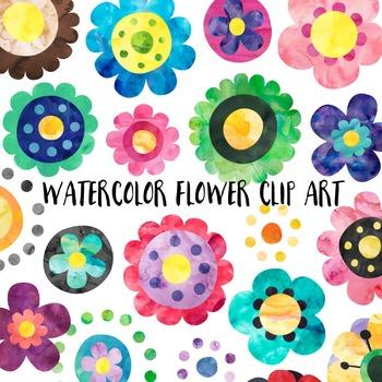 Watercolor Flower Clipart