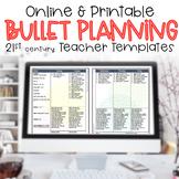 Editable Teacher Planner Bullet Lesson Plan Lists FLORA #s