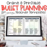 Teacher Binder Editable Bullet Lesson Plan Lists FLORA