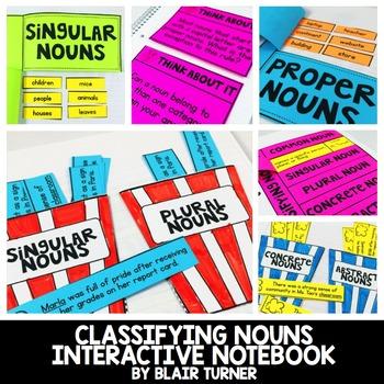 Grammar Interactive Notebook {CLASSIFYING NOUNS}