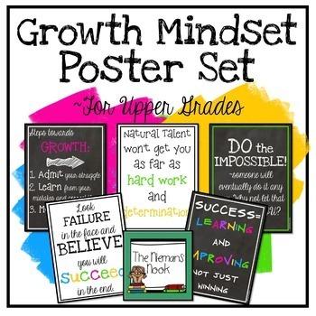 Growth Mindset Posters- Upper Grades