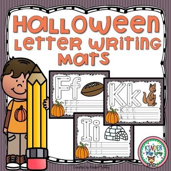 Halloween Letter Writing Mats