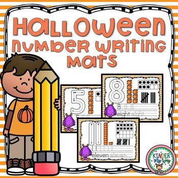 Halloween Number Writing Mats