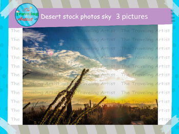 Desert Sky Stock Photographs