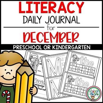 Preschool Literacy Journal for December NO PREP