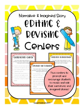 Revising and Editing Interactive Centers (Colorful & Brigh