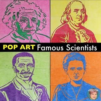 Famous Scientists - Collaboration Portrait Posters BUNDLE