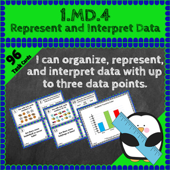 1.MD.4 Task Cards: Represent & Interpret Data Task Cards 1