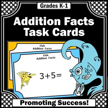 Addition Facts Task Cards Kindergarten Special Education M