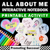 All About Me Interactive Notebook Back to School Activities