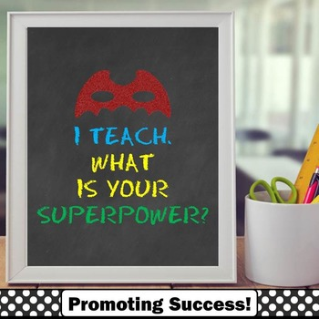 Teacher Appreciation Week Gift I Teach What is Your Superp