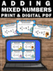 Adding Mixed Numbers with LIKE Denominators 4th Grade Math Games