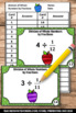 Dividing Whole Numbers by Fractions Games 5th Grade Math T