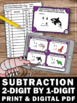 Subtraction 2 Digit Minus 1 Digit With & Without Regroupin