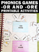 Phonics Word Work Worksheets Activities and Games { -ore a