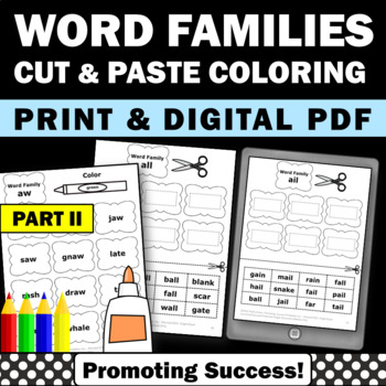 Word Families Worksheets & Activities for Morning Work or
