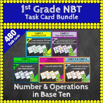 1st Grade NBT Task Cards: Number & Operations in Base Ten