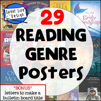 29 Reading Genre Posters {Sweet Line Design}