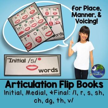 Articulation Flip Books Place Manner Voicing Data Sheets L
