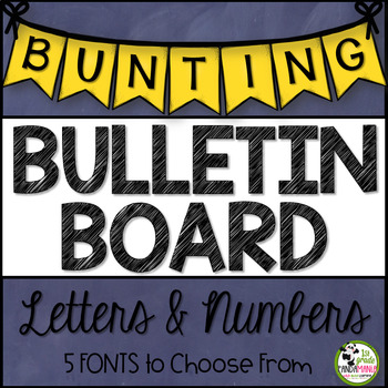 Bulletin Board Bunting Letters {5 Different Colors}