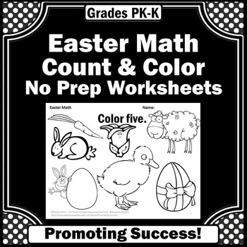 Easter coloring pages worksheets for kids counting kindergarten math