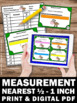 Measurement to the Nearest Inch and Half Inch 2nd Grade Ma