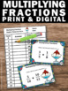 Multiplying Fractions Task Cards 5th Grade Common Core Math Games