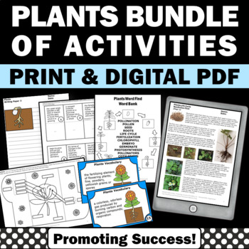plants bundle of activities for kids